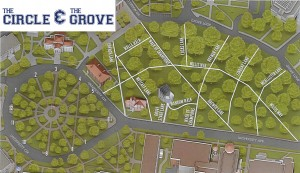 The Ole Miss Grove Map
